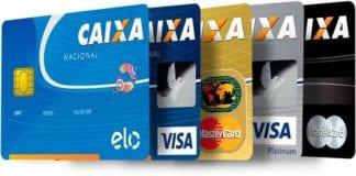 Cartões de crédito da caixa