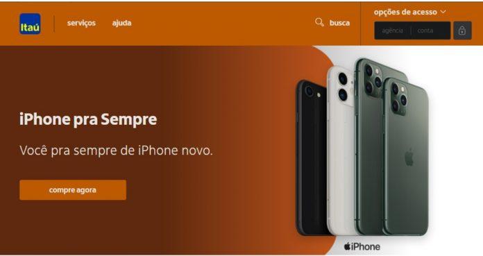 Iphone Para sempre, Nova parceria com o itaú: