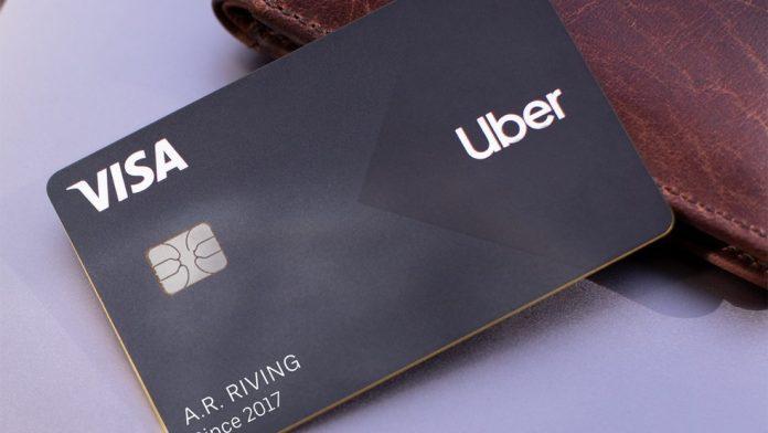 Cartão de crédito pré-pago uber