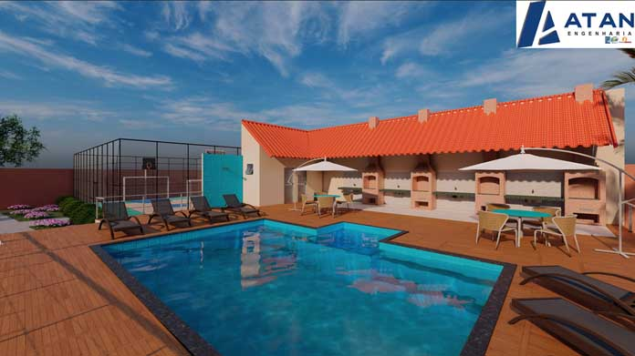Residencial Nascente das Águas piscina