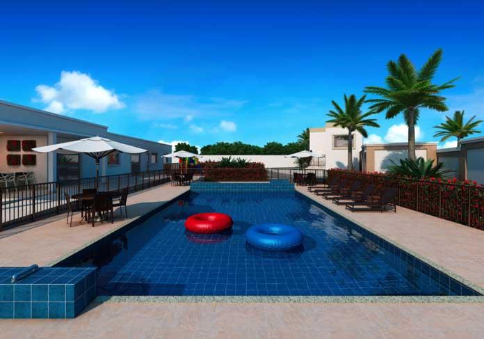 Norte Boulevard Residencial piscina