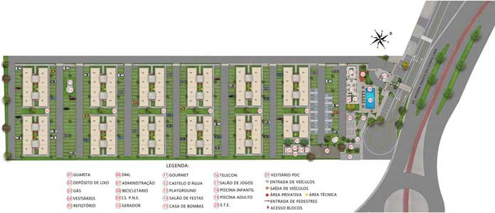 Norte Boulevard Residencial planta do condomínio