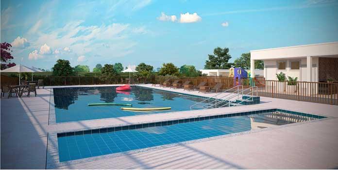 Residencial Mata dos Sabiás piscina