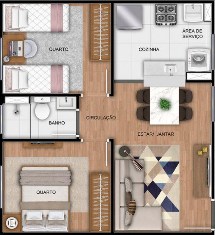 planta baixa do apartamento simples