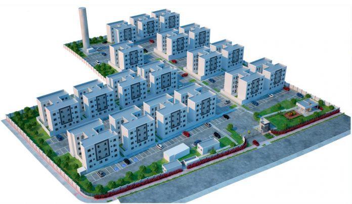 projeto arquitetonico 3d no residencial lago di bienna
