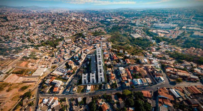 Vista de cima do bairro onde vai ser construido o plaza norte