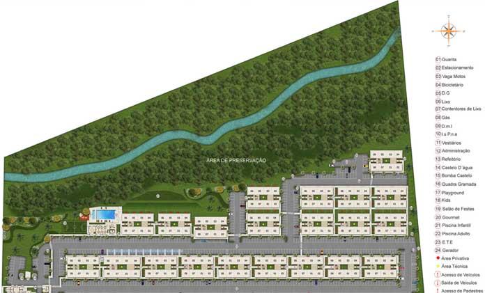 Parque Jardim da Costa planta do condomínio