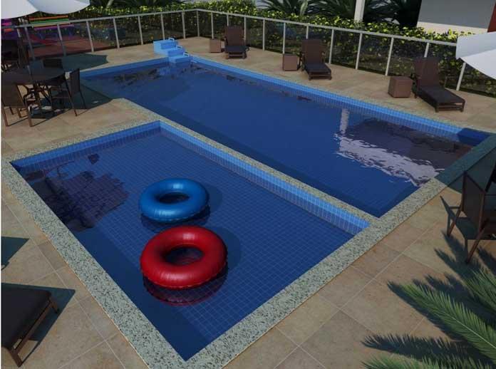 Residencial Outono piscina