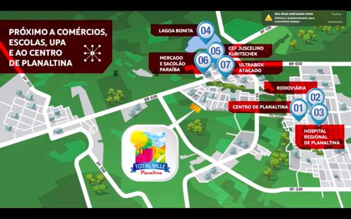 Total Ville Planaltina localização